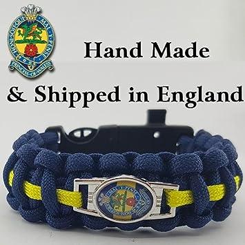 Princess of Wales Royal Regiment Badged Survival Bracelet Tactical Edge.