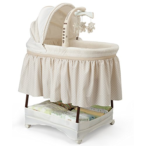 Simmons Kids Elite Gliding Bassinet, Sand by Simmons Kids