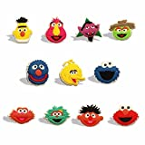 100 pcs. Round Cartoon Childrens Band Aid, Adhesive Bandages Bandaids and 2 Bonus Free Sesame Street Character PVC Refrigerator Magnets (Random) and A Collection of Kids Jokes Bundle by PZ