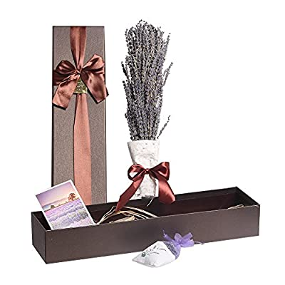 Lavender dried flower bouquet Elegant Gifts Exquisite Gifts Box Used for Valentine's Day Gifts Birthday Gifts