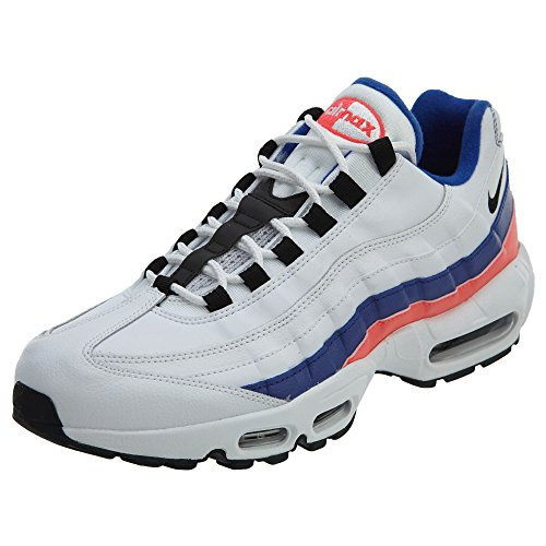 best service 3007b ac2c5 Galleon - NIKE Men s Air Max 95 White Black Solar Red Ultramarine Synthetic  Casual Shoes 7.5 (D) M US