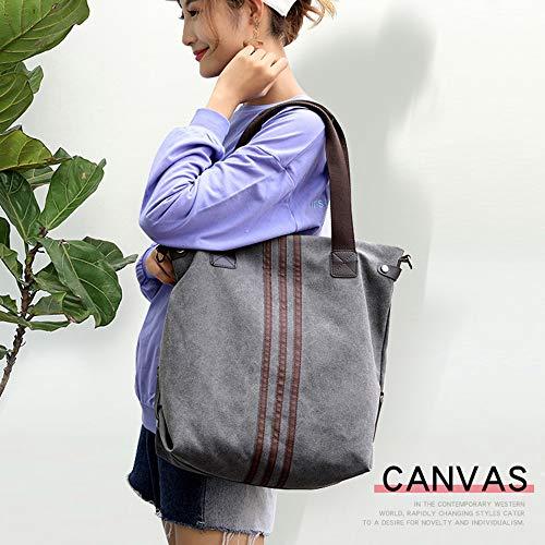 Style Women's GOLD Black Large Hobo TM Crossbody KISS Canvas Tote Bag Shoulder Handbag PwgwEd