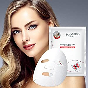 Upgraded 2018 Silk Facial Mask - Rejuvenating Exfoliating For Acne & Dry Face Anti-wrinkle, Face Moisturizer For Smoother Skin,balance nutriments & water, prevent blackhead 5 Pack Sheet By Scuddles