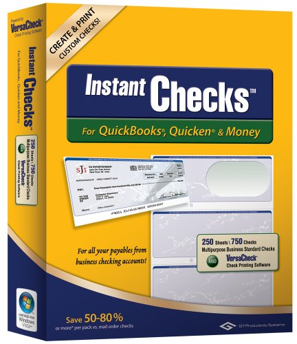 Money Form - Instant Checks for QuickBooks, Quicken & Money: Form #3000 Business Standard - Green Graduated 250pk