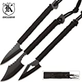 BudK Survival Knife 3-Pack with Sheath