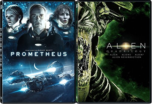 Alien Quadrilogy + Prometheus Sci-Fi Horror DVD Movie Bundle collection Set
