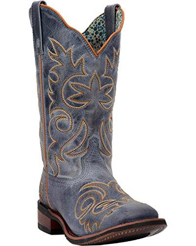 Boot Ella Blue Square Laredo Vintage Women's Navy 5676 Toe Stockman 57wXq