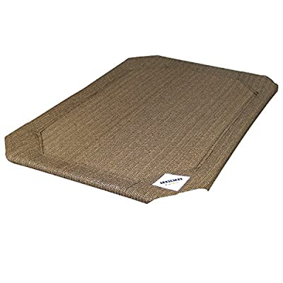 Coolaroo Elevated Pet Bed Replacement Cover Medium Nutmeg