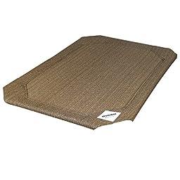 Coolaroo Elevated Pet Bed Replacement Cover Medium Nutmeg