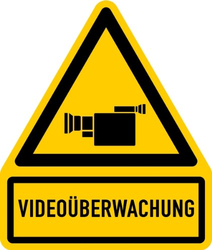 Schild Alu Videoüberwachung + Symbol 237x200mm