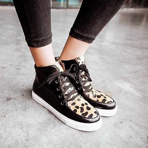 up Print Print Winter Leopard Hidden Womens Warm Use amp; Lace Heel Camouflage Leopard Wedge Carolbar Fashion Sneakers qnTUR0x1