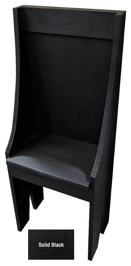 Surprising Amazon Com Sawdust City Small Primitive Bench Solid Black Bralicious Painted Fabric Chair Ideas Braliciousco