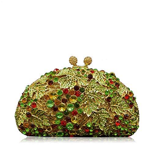 Clutch Lady Diamond Bag Party Wedding Green Wedding Lady Bag Party Diamond wHC81wAqx