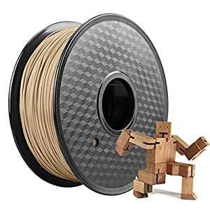 Wood pla filament 1kg, suitable for 3d printer and 3d printing pen, 3d printing filament 1.75mm, high precision