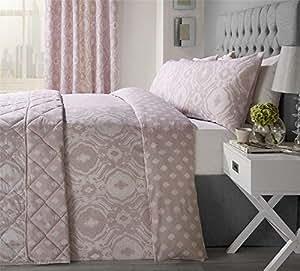 Intrincado Paisley-Style Blush Rosado Mezcla de Algodón King Size 5 Piezas Dormitorio Juego