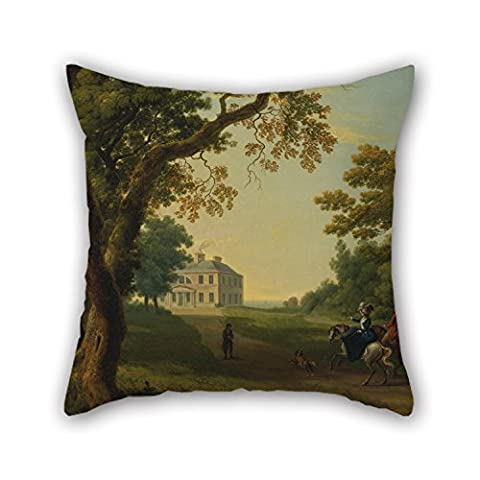 Slimmingpiggy Oil Painting William Ashford - Mount Kennedy, County Wicklow, Ireland Throw Cushion Covers 16 X 16 Inches / 40 By 40 Cm Gift Or Decor For Sofa,lounge,kids (Chiefs And Royals Pennant Shirt)