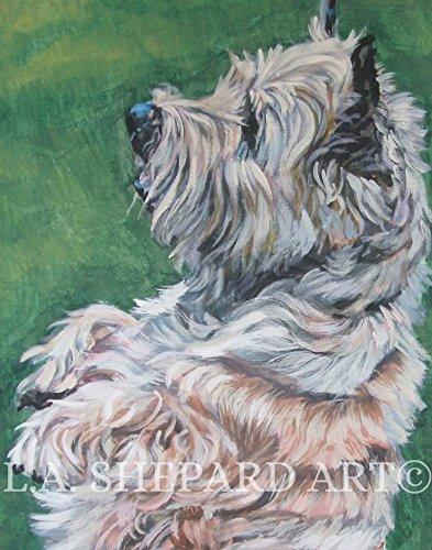 A Cairn Terrier art portrait print of an LA Shepard painting 8x10