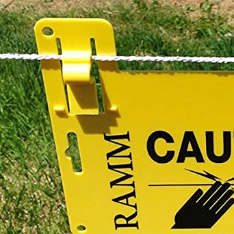 3 Pk Electric Fence Warning Sign High Visibility Yellow Signage Utility Signing