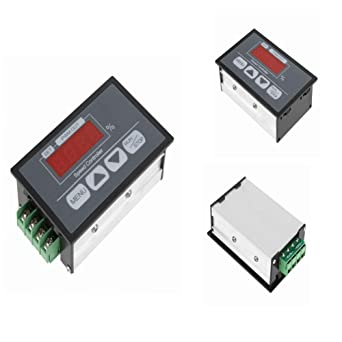 DC Motor Controller 6-60V 30A Motor Speed Controller with Digital Display for Setting The Slow Start and Stop Time of The DC Motor