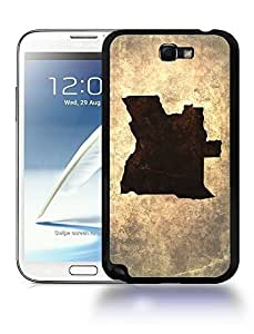 Angola National Vintage Country Landscape Atlas Map Phone Case Cover Designs for Samsung Galaxy Note 2