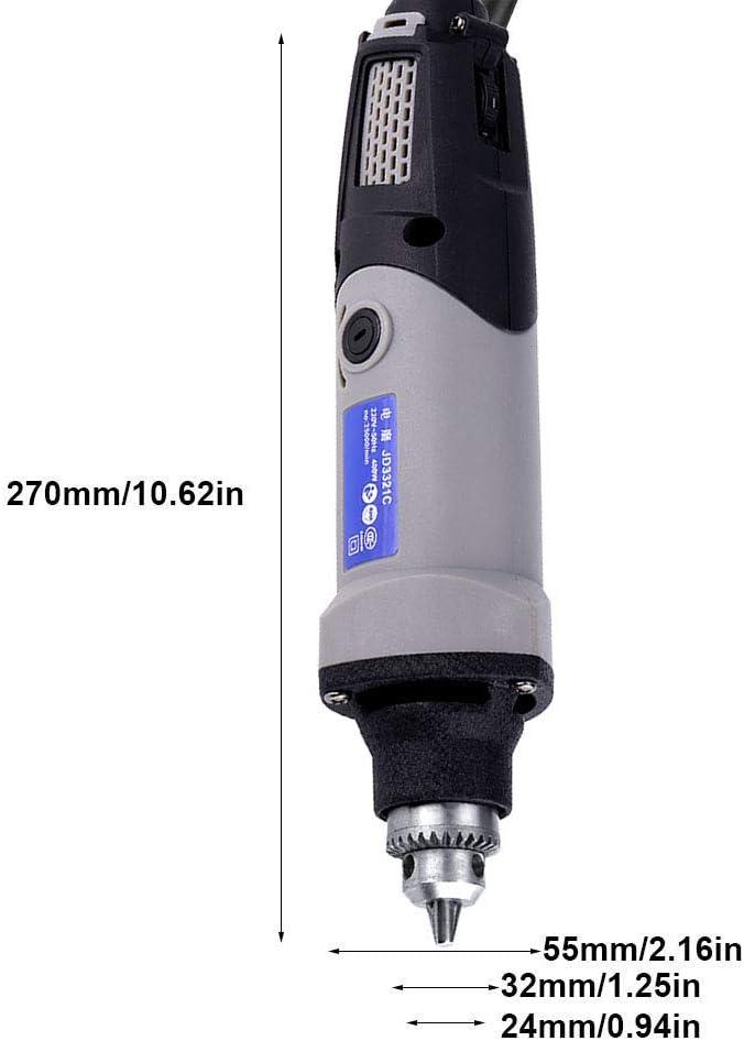 Yongfer Die Grinder-400W Electric Die Grinder Power Drill 6 Positions Variable Tool 220V EU Plug