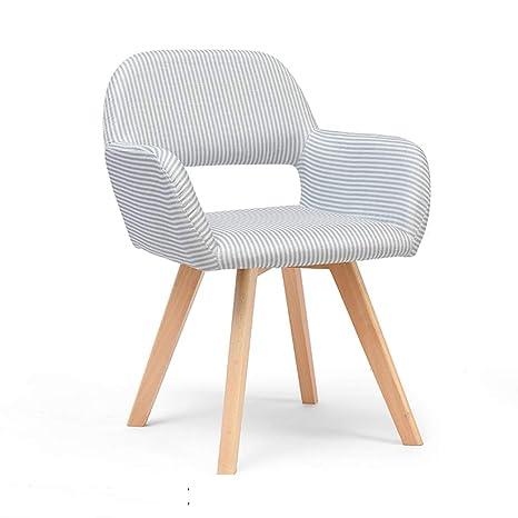 Sillas de comedor nórdicas, sillón tapizado de sillón ...