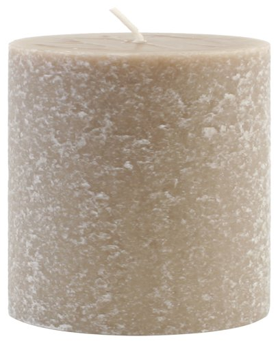 - Root Candles Unscented Timberline Pillar Candle , 3 x 3-Inches , Taupe