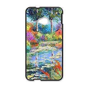 Countryside pond scenery Phone Case for HTC One M7 wangjiang maoyi