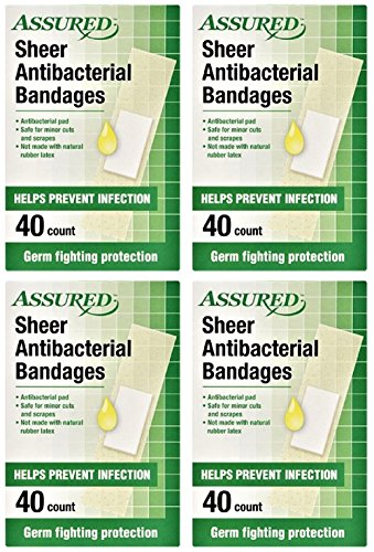 - Sheer Antibacterial Bandages, Latex-free, 160-count