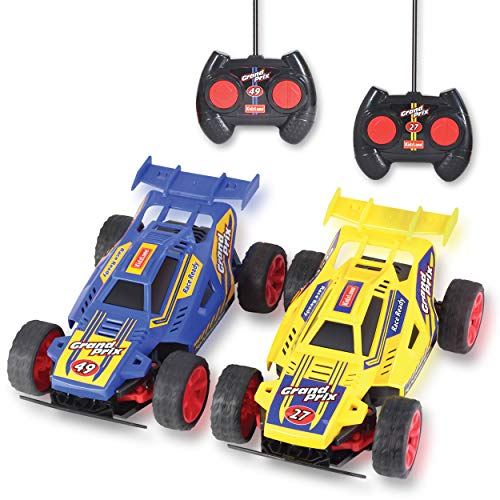 Kidzlane Remote Control Racing Cars, Set of Two - Easy to Control and Race Together with All-Direction Drive and 35 Foot Range ()