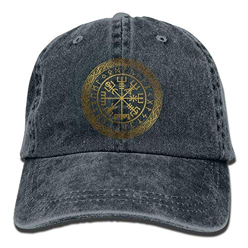 hanbaozhou Gorras béisbol Ancient Compass Denim Hat Adjustable Female Curved Baseball Hat