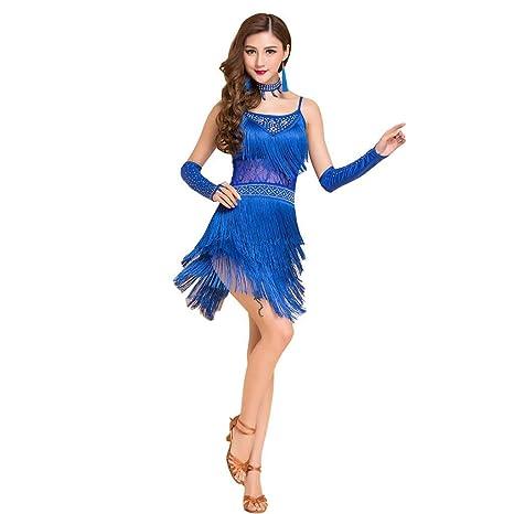 Z&X Falda De Baile De Salón De Baile Latino para Mujer Disfraz De ...