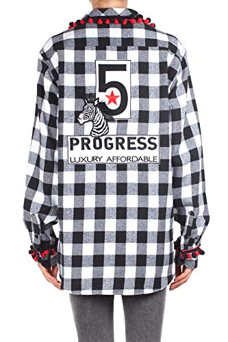 Femme Blanc 5 Chemise Shirt 56 Noir Noir B Couleur Progress Blanc Zebra wqCpS