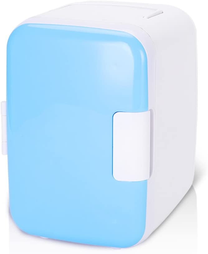 Thermoelectric Mini Fridge Cooler and Warmer,Mini Refrigerator 12V Low Noise,4 Liter/6 Can Compact & Portable Thermoelectric Cooler and Warmer for Home,Office, Car, Dorm or Boat (Blue)