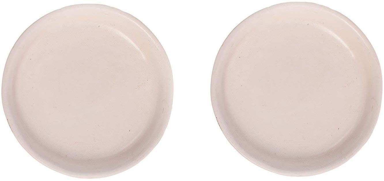 Lasaki Ceramic 4inch White Tray for Ceramic Pots Best use for Flower Pot, Plant Saucer Base, Plate Planter Tray (CIR003) - Set of 2 (B07XLX5SJS) Amazon Price History, Amazon Price Tracker