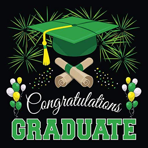 Graduation Guest Book: Congratulations Graduate GuestBook + Gift Log | Class of 2019 Graduation Party Memory Sign In Keepsake Journal | Black Green -
