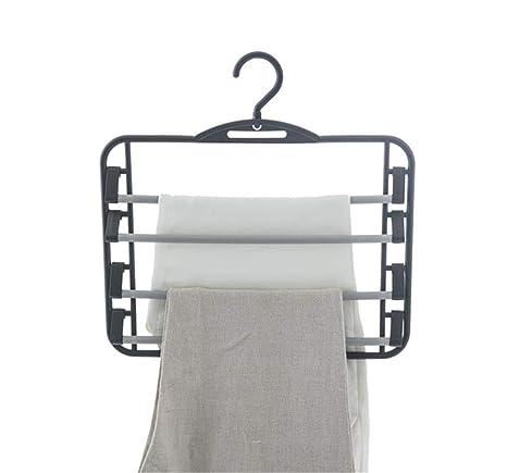 XnZLXS Pantalones de plástico de 2 Piezas Perchas Perchero ...