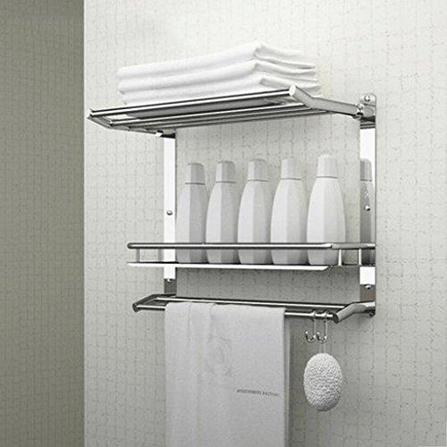 PRIDE H Badezimmer Regal Edelstahl Folding Drei Schichten: Amazon.de ...