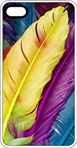 Colorful Long Feathers White Plastic Case for Apple iPhone 6
