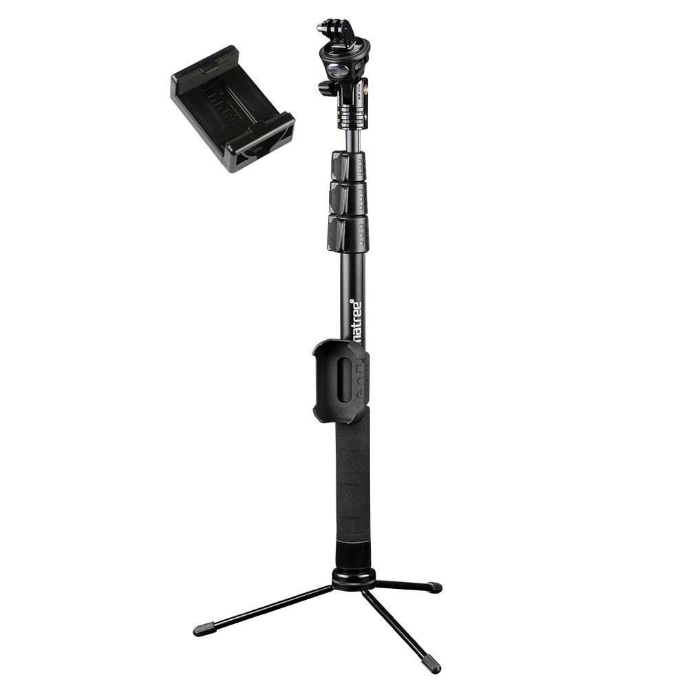 Smatree Y2 Telescoping Pole with Tripod Stand for GoPro Hero Fusion/6/5/4/3+/3/2/Session/GOPRO HERO (2018)(WiFi Remote Controller is NOT Included) action cameras,for iPhone Series and Other cellphones