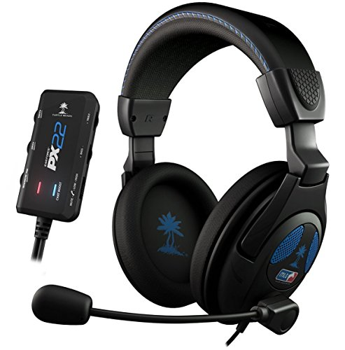 Turtle Beach - Auriculares Ear Force PX22, Con Cable, MLG Licensed, Color Negro (PS3, PS4, Xbox 360)