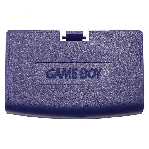 Boy Cover Battery Color Game (Plastic Battery Cover Door Part for Game Boy Advance GBA Purple Color)