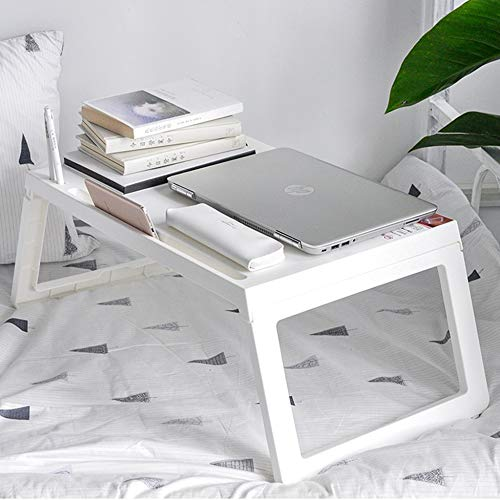 LIULIFE Bed Table Tray - Foldable Breakfast Serving Tray for Kids Eating, Laptop Computer Desk for Sofa, Portable Outdoor Camping Stand with Floding Legs,White-54.535.5cm by LIULIFE (Image #3)
