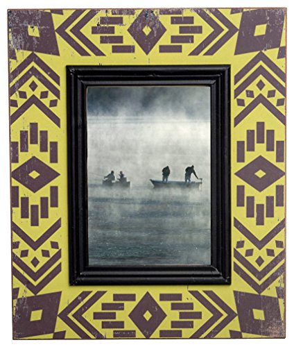 American West Picture Frame - Boston International Navajo Blanket Photo Frame Holds 5 by 7-Inch Photo