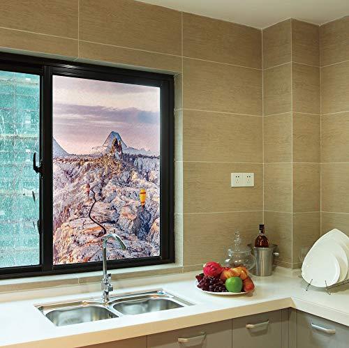 (YOLIYANA Waterproof Window Film,Winter,for Bedroom Living Room Kitchen,Cappadocia Turkey Landscape with Hot Air Balloons Anatolia,24''x36'')