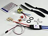 HOBBYMATE Rc Airplane Power Combo Motor and ESC 30A, Program Card Props Plugs ParkFlyer