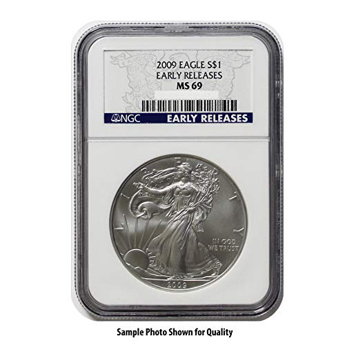 2009 American Silver Eagle $1 MS69 NGC Early Releases for sale  Delivered anywhere in USA