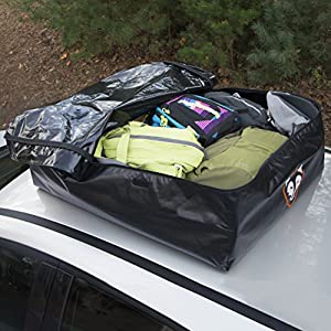 Rightline Gear 100A50 Ace Jr Car Top Carrier, 9 cu ft, Weatherproof, Attaches With or Without Roof Rack
