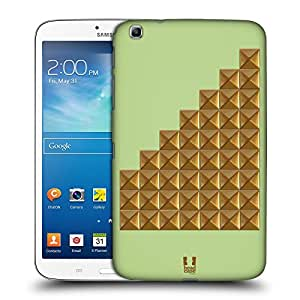 Head Case Designs Lime Pastel Studs Hard Back Case Cover for Samsung Galaxy Tab 3 8.0 T311 T315 T310