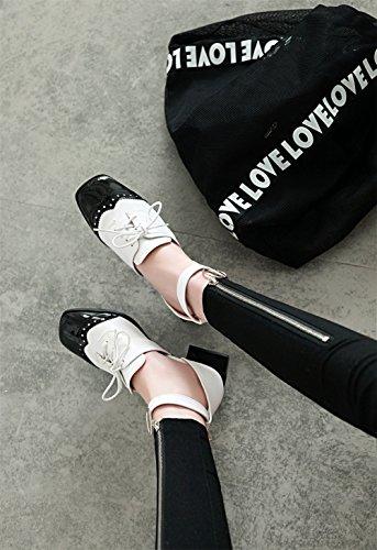 Baotou spesse Head Empty America donna Shoes Scarpe e Shoes Colore sandali SHINIK da con Europa Side A Square t7qP8w